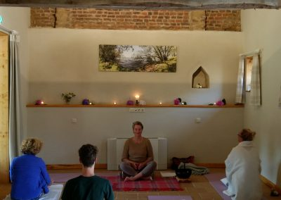 yoga and meditation room